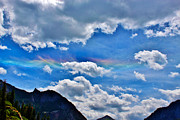 A Summer Evening Landscape Photo Prints - Iridescent Cloud Formations Over Ouray Print by Janice Rae Pariza