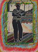 Lino-cut Painting Framed Prints - Irie Reggae 1 Framed Print by John Powell