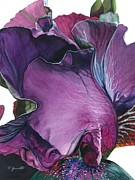 Purple Iris Prints - Iris- Unfolding Drama Print by Barbara Jewell