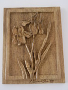 Flowers  Sculptures - Irises by Esther Newman-Cohen