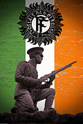1916 Posters - Irish 1916 Volunteer Poster by David Doyle