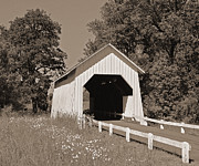 Tim Moore Prints - Irish Bend Covered Bridge Print by Tim Moore