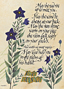 Dave Wood Posters - Irish Blessing Flowers Poster by Dave Wood