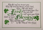 Calligraphy Art Framed Prints - Irish Blessing Horizontal Framed Print by Carol Sabo