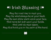 St. Patrick Framed Prints - Irish Blessing Framed Print by Jaime Friedman
