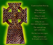 Celts Posters - Irish Blessing Poster by Mike Flynn