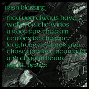 Patched Posters - Irish Blessing Stitched in time Poster by LeeAnn McLaneGoetz McLaneGoetzStudioLLCcom