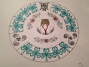 March Drawings - Irish Blessings by Anne Sanderson