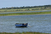 Ladys Island Photos - Irish Blue Boat 1 by Carol Lynch