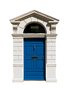 Mail Box Prints - Irish building door Print by Luis Santos
