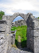 Inishmore Prints - Irish Church Ruins Print by Denise Mazzocco