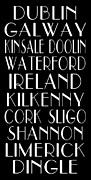 Engagement Digital Art Metal Prints - Irish Cities Subway Art Metal Print by Jaime Friedman