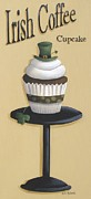 Leprechaun Paintings - Irish Coffee Cupcake by Catherine Holman