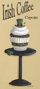 Irish Coffee Cupcake Print by Catherine Holman