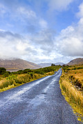 Winter Roads Framed Prints - Irish Countryside of Connemara Framed Print by Mark E Tisdale
