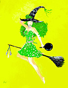 Greeting Cards Digital Art - Irish Kitchen Witch by Alys Caviness-Gober