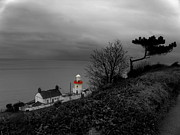 Coastguard Photo Originals - Irish Lighthouse by Frances Hodgkins