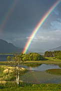Jane Mcilroy Metal Prints - Irish Rainbow Metal Print by Jane McIlroy