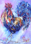 The Boss Painting Metal Prints - Irish rooster Metal Print by Mary Cahalan Lee