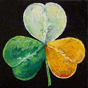 Leprechaun Paintings - Irish Shamrock by Michael Creese