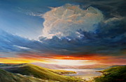 Roman Burgan Art - Irish sunset by Roman Burgan