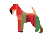 Colorful Art. Prints - Irish Terrier Print by Irina  March