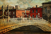 Story Book Prints - Irish Venice. Streets of Dublin. Painting Collection Print by Jenny Rainbow