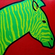 Contemporary Animal  Acrylic Paintings - Irish Zebra by John  Nolan