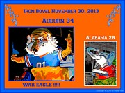Roll Tide Digital Art Posters - Iron Bowl 2013 Poster by Marian Bell