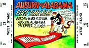 Ncaa Prints - Iron Bowl 89 Print by Benjamin Yeager