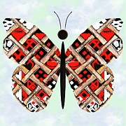 Barbara Drake Mixed Media Prints - Iron Butterfly Print by Barbara Drake
