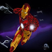 Comic. Marvel Prints - Iron Force Print by Penny Ovenden