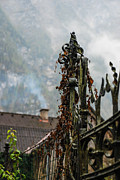 Salzkammergut Framed Prints - Iron Gate Post Framed Print by David Waldo
