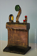 Iron  Sculpture Metal Prints - Iron John Henry I Metal Print by Tom Wright
