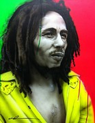 Bob Marley Paintings - Iron Like a Lion in Zion by Christian Chapman Art