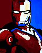 Superhero Paintings - Iron Man 2 by Barbara McMahon