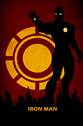 Green Lantern Prints - Iron Man Print by FHTdesigns