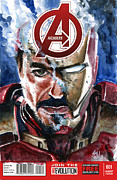 Avengers Painting Originals - Iron Man by Ken Meyer jr