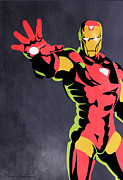 Caricature Posters - Iron Man  Poster by Mark Ashkenazi