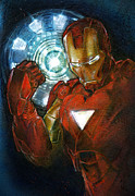 Avengers Painting Originals - Iron Man Mark IV by Dove McHargue
