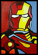 Iron Man Painting Originals - Iron Man by Ong Chii Huey