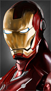 Ironman Digital Art Posters - Iron Man Painting Poster by Luis Padilla