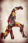 Typographic Digital Art Prints - Iron Man - Tony Stark Print by Ayse Toyran