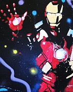Iron Man Painting Originals - Iron by Marc Tsakiris