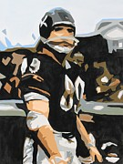 Hall Of Fame Painting Originals - Iron Mike Ditka by Steven Dopka