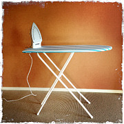 Ironing Board Framed Prints - Iron on board Framed Print by Les Cunliffe