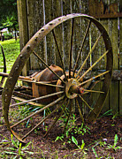 Ron Roberts Photography Photographs Prints - Iron Wheel Print by Ron Roberts
