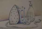 Water Drawings Prints - Ironing Print by Larry Preston