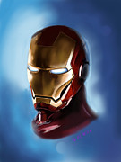 Ironman Digital Art Posters - Ironman Poster by Flaco Garcia