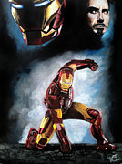 Ironman Drawings - Ironman by Scott Parker